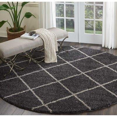 Psyche Charcoal Area Rug Rug Size: Rectangle 67 x 97