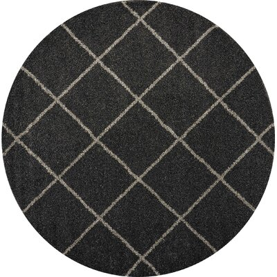 Psyche Charcoal Area Rug Rug Size: Round 8'2