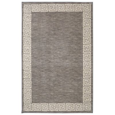Brauer Gray Area Rug Rug Size: Rectangle 76 x 10