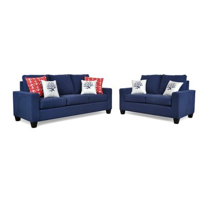 Audrey Sofa Upholstery: Dyed Solid Blue / Sailor Carmin / Coral White Blue