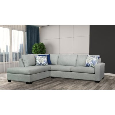 Hannah Sectional Upholstery: Paradigm Mist / Oscar Navy / Coral Reef Oceanside