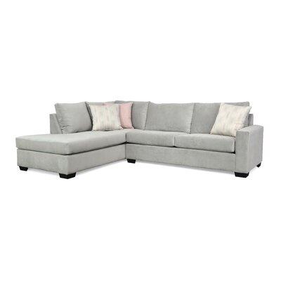 Hannah Sectional Upholstery: Bella Dove / Tweed 700 / Ziggy 140
