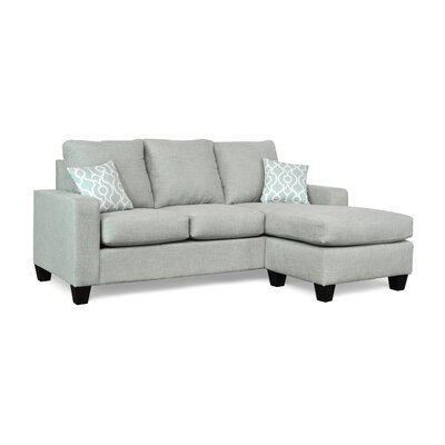 Morpheus Reversible Sectional with Ottoman Upholstery: Paradigm Mist / Lyon Snowy