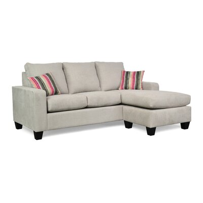 Morpheus Reversible Sectional with Ottoman Upholstery: Zenith 806 / Boho Blush