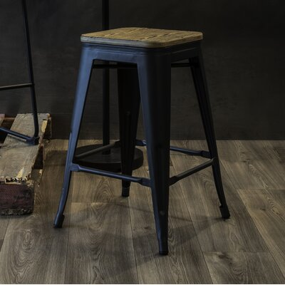 Claremont 24 Bar Stool Finish: Gray/Brown