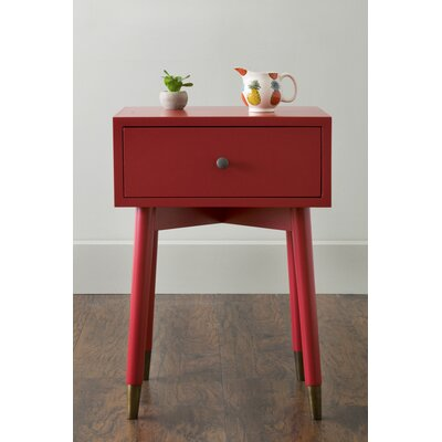 Pellston End Table With Storage� Color: Red