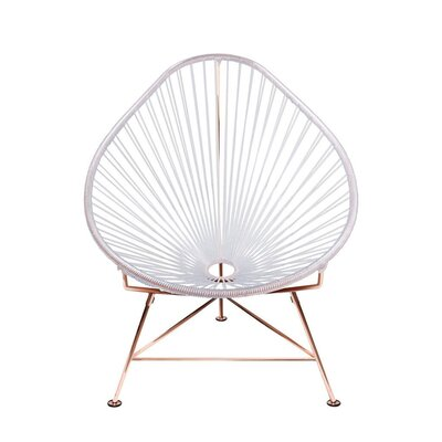 Canela Papasan Chair Finish: Clear, Finish: Black
