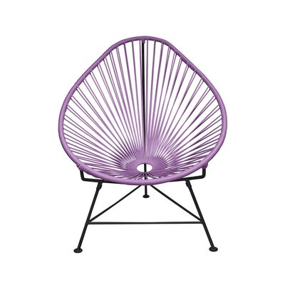 Canela Papasan Chair Finish: Orchid, Finish: White