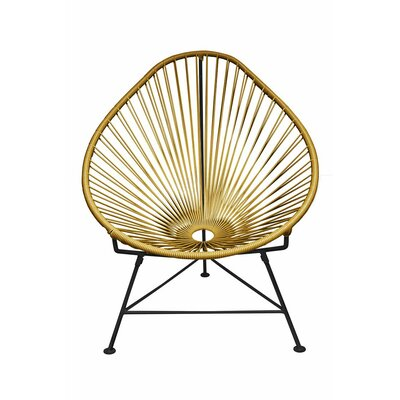 Canela Papasan Chair Finish: Gold, Finish: Chrome