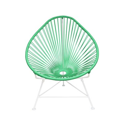 Canela Papasan Chair Finish: Seafoam, Finish: Chrome