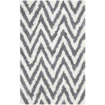 Haupt Gray/White Area Rug Rug Size: Rectangle 5 x 8
