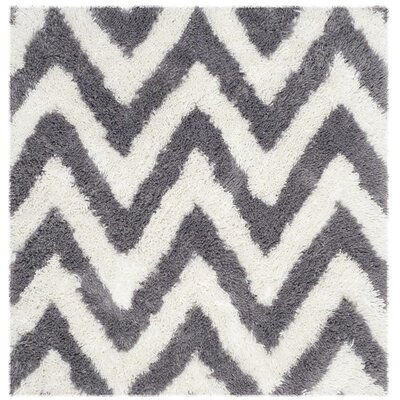 Haupt Gray/White Area Rug Rug Size: Square 4