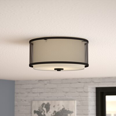 Birchfield 3-Light Flush Mount Finish: Oil Rubbed Bronze