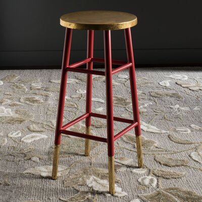 Mizar 30 Bar Stool Upholstery: Red / Gold