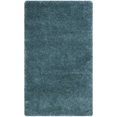 Virgo Light Blue Area Rug Rug Size: Rectangle 3 X 5
