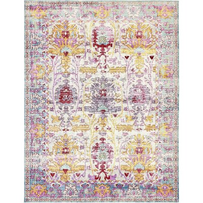 Carrico Burgundy Area Rug Rug Size: Rectangle 6 x 9