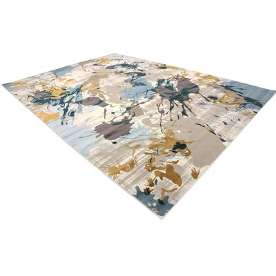 Brayden Beige/Blue Area Rug Rug Size: Rectangle 8 x 112