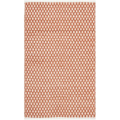 Amicus Hand Tufted Orange Area Rug Rug Size: Rectangle 26 x 4