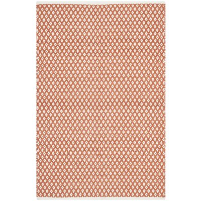 Amicus Hand Tufted Orange Area Rug Rug Size: Rectangle 4 x 6