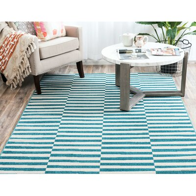 Braxton Teal Area Rug Rug Size: Rectangle 6 x 9