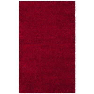 Brickner Red Area Rug Rug Size: Rectangle 3 x 5