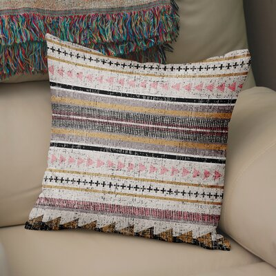 Duffin Stripe Throw Pillow Size: 24 H x 24 W x 6 D