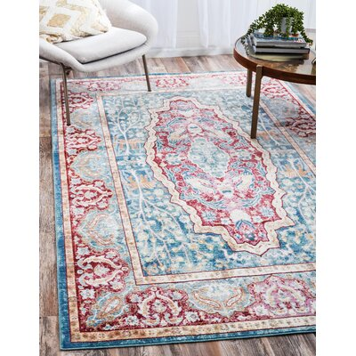 Carrico Navy Blue Area Rug Rug Size: Rectangle 9 x 12