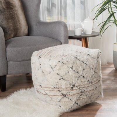 Amoroso Pouf Upholstery: Ivory