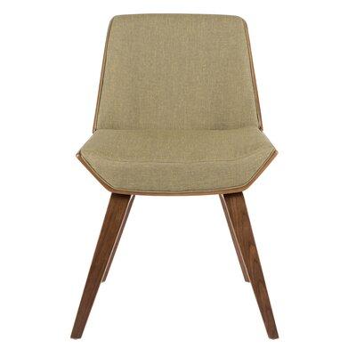 Atlantic Avenue Upholstered Side Chair Upholstery: Green