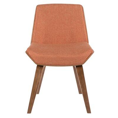 Atlantic Avenue Upholstered Side Chair Upholstery: Orange