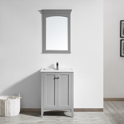 Aguilar 24 Single Vanity Set with Mirror