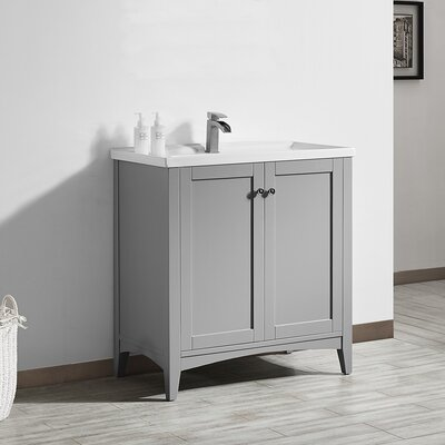 Aguilar 30 Single Vanity Set Base Finish: Grey