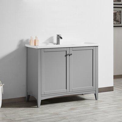 Aguilar 40 Single Bathroom Vanity Set Base Finish: Grey