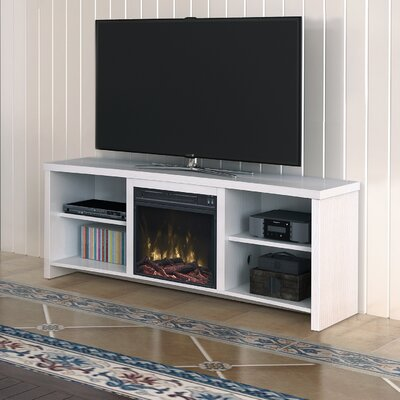 Cadle 60 TV Stand with Fireplace Color: White