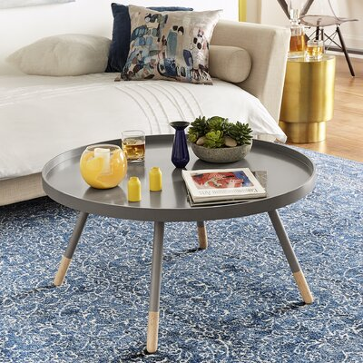 Acevedo Coffee Table with Tray Top Color: Frost Gray