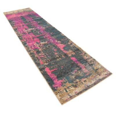 Coakley Pink Area Rug Rug Size: Runner 27 x 10