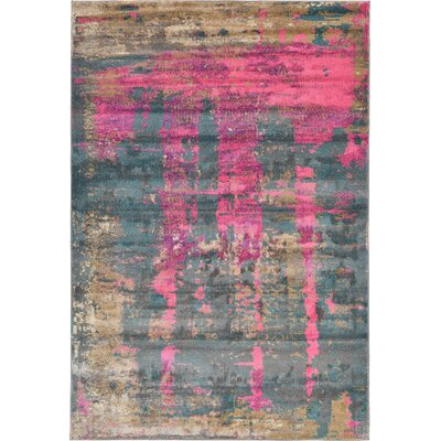 Coakley Pink Area Rug Rug Size: Rectangle 6 x 9