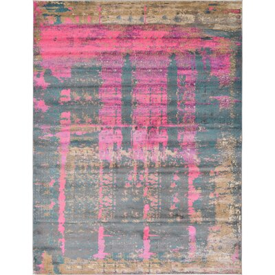 Coakley Pink Area Rug Rug Size: Rectangle 9 x 12