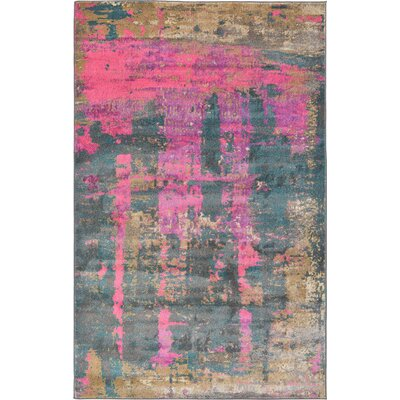 Coakley Pink Area Rug Rug Size: Rectangle 5 x 8