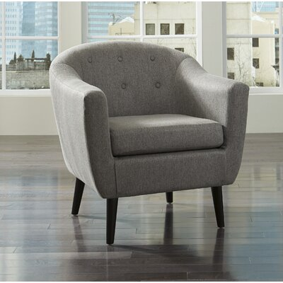 Slinkard Barrel Chair Upholstery: Charcoal