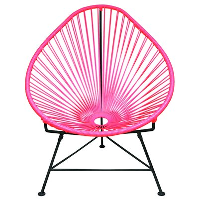 Canela Papasan Chair Finish: Neon Pink, Finish: White