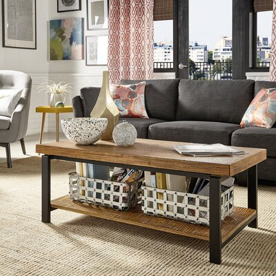 Hayles Coffee Table Color: Brown