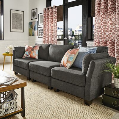 Camp Mabry Sofa Upholstery: Dark Gray