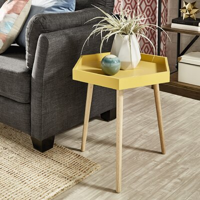 Camire End Table Color: Banana Yellow