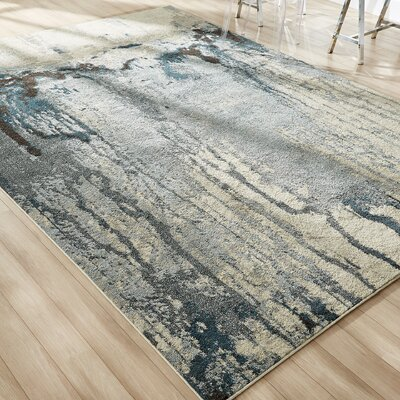 Brister Light Blue Area Rug Rug Size: Rectangle 9 x 12