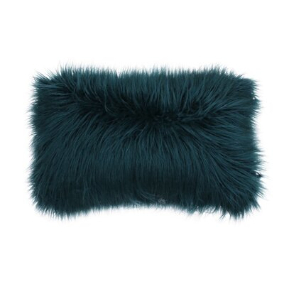 Vanbuskirk Faux Fur Lumbar Pillow Color: Deep Teal