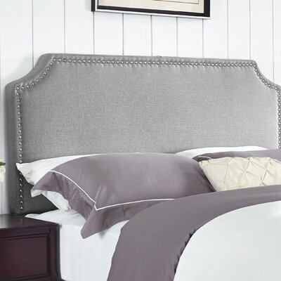 Luna Upholstered Panel Headboard Size: Full / Queen, Upholstery: Sand Stone