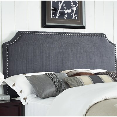 Luna Upholstered Panel Headboard Size: King / California King, Upholstery: Graphite