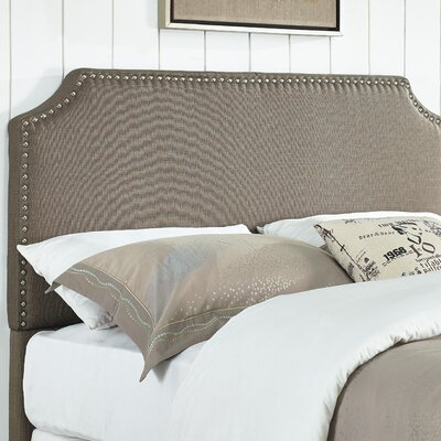 Luna Upholstered Panel Headboard Size: King / California King, Upholstery: Pebble Stone