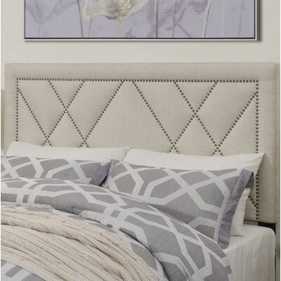 Garnes Upholstered Panel Headboard Size: King/Cal King, Upholstery Color: White